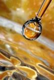 Orange Tropfen. Lizenzfreie Stockbilder