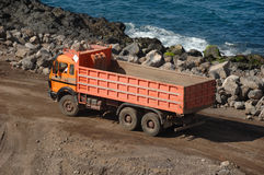 Orange truck Stock Photos
