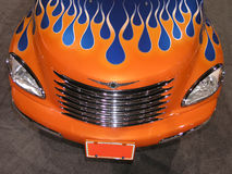 Orange Truck - Blue Flames Stock Photos