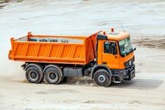 Orange truck Royalty Free Stock Images