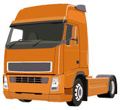 Orange truck Stock Images