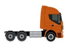 Orange truck Stock Image
