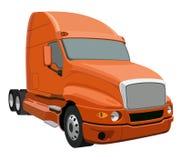 Orange truck Royalty Free Stock Photos