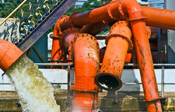 Orange tubes. Stock Photography