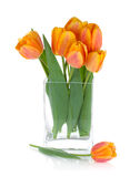 Orange tulips in flower bowl Royalty Free Stock Photo