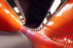 Orange Tunnel Royalty Free Stock Photo