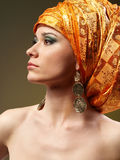 orange turban Arkivfoto