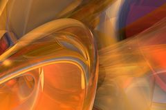 Orange Turbulence. Digital design rendered in 3D, with Post Production (retouch, ended, adjustments of colors and contrasts) using Edition images Software stock illustration