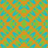 Orange turquoise green abstraction on square tile Royalty Free Stock Images