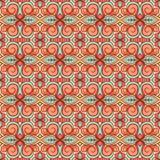 Orange and turquoise pattern Stock Photo