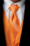 Orange Tuxedo Neck Tie and Vest Stock Photo