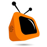 Orange TV illustration Royalty Free Stock Image