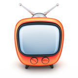 Orange TV Royalty Free Stock Images