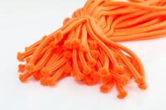 Orange twine. Isolated orange twine on the white background Royalty Free Stock Photos