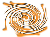 orange twirl Royaltyfri Foto