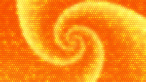 Orange Twirl Background With Bright Dots Effect. 2D rendered image with orange twirl motif Royalty Free Stock Photos
