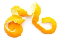 Orange twist of citrus peel Royalty Free Stock Image