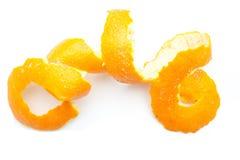 Orange twist of citrus peel Stock Photo