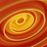 Orange twisted spiral shape abstract 3D render with DOF. Orange twisted spiral shape. Computer designed abstract 3D render with DOF Royalty Free Stock Photos