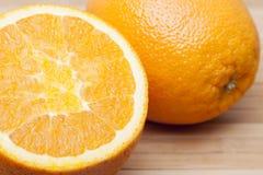 Orange  . Two large orange close-up royalty free stock images