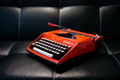 Orange Typewriter Stock Photo