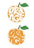 Orange. Typographic poster  illustration Royalty Free Stock Image