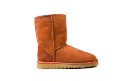 Orange ugg boot Stock Image