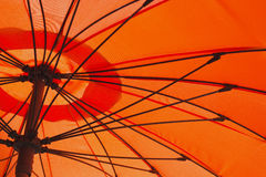 Orange umbrella Stock Photography