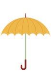 Orange umbrella royalty free illustration