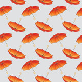 Orange umbrella background pattern. Royalty Free Stock Images