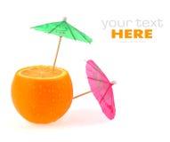 Orange and umbrellas Royalty Free Stock Image