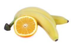 Orange und Banane Lizenzfreies Stockbild