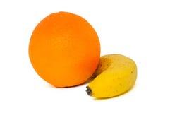 Orange und Banane Lizenzfreie Stockbilder