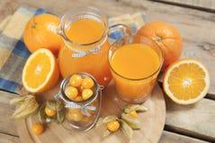 Orange und Blau Lizenzfreies Stockbild