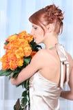 Orange und Blau Stockfotografie