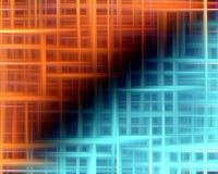Orange und blauer Hintergrund mit Lichtern Lizenzfreie Stockbilder