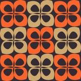 Orange und braunes Retro- Muster Stockbild