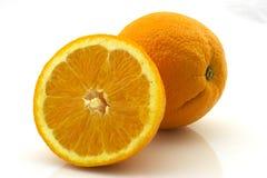 Orange und eine Hälfte stockfoto
