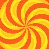 Orange und Gelb-Strudel-Auszug Lizenzfreies Stockbild