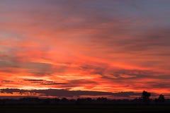 Orange und gelbe Landschaft des Himmels Stockbild