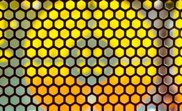 Orange und gelber geometrischer Hintergrund Lizenzfreie Stockfotografie