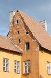 Orange und gelbes Haus Lizenzfreie Stockfotografie