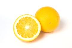 Orange und geschnittene Orange Stockfoto