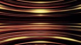 Orange und goldene parallele runde Linien, die sich endlos, nahtlose Schleife bewegen Sch?ne gl?hende bogenf?rmige Strahlen des g vektor abbildung