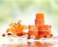 Orange und Grün stockfoto