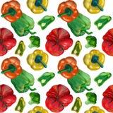Orange und grüne Ball Pappers-Fliese des Aquarells lizenzfreie abbildung