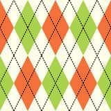 Orange und grünes argyle Lizenzfreie Stockfotografie