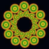 Orange und grünes Muster Lizenzfreie Stockbilder