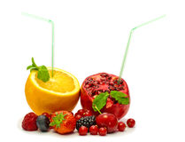 Orange und Granatapfel Lizenzfreies Stockfoto