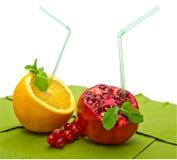 Orange und Granatapfel lizenzfreie stockbilder